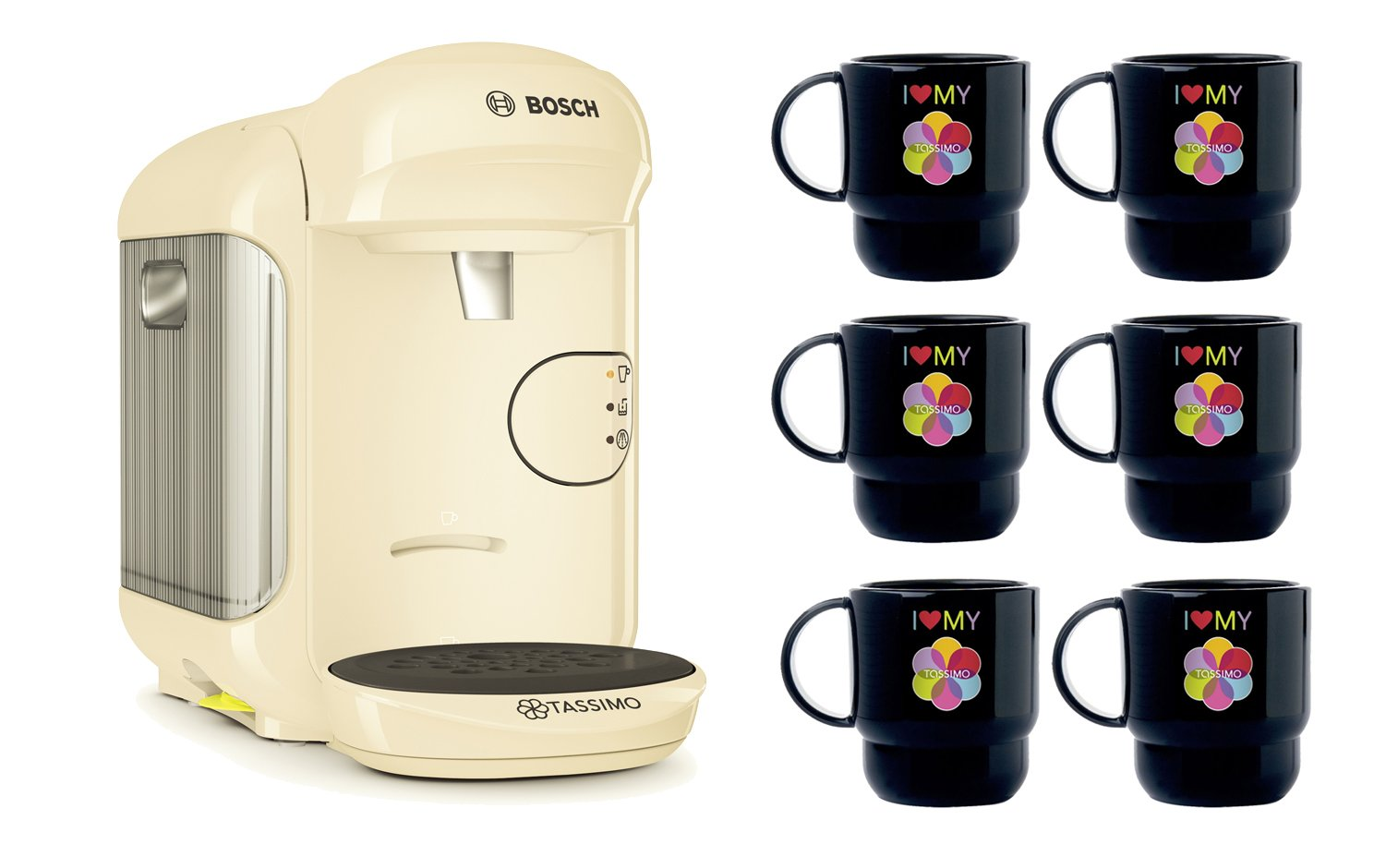 Bosch Tassimo Vivy 2 Bundle Set + 6 x Tupperware Taza ...