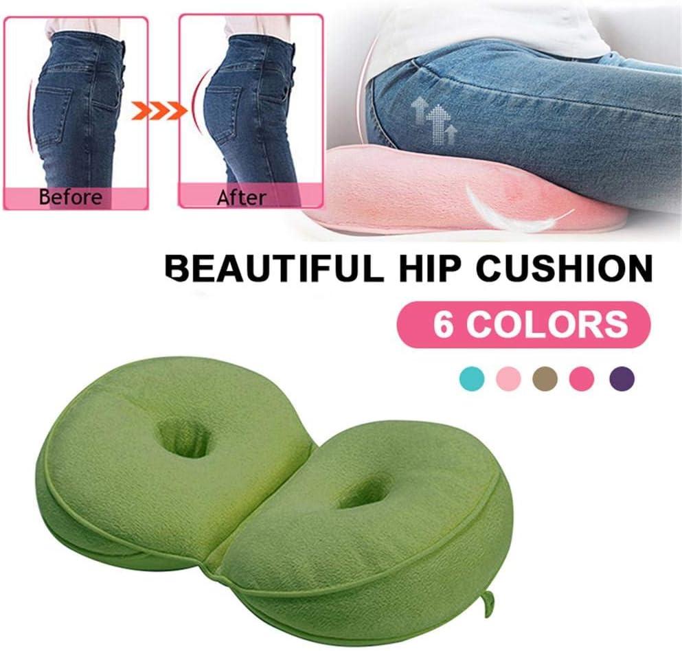 ZQHWH Multi-Functional Plush Dual Comfort Cushion Beautiful Folding Pillow Hips Up Seat Cushion