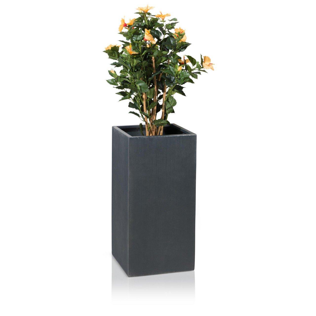 pflanzk bel blumenk bel torre 80 fiberglas 40x40x80 cm anthrazit geriffelt g nstig bestellen. Black Bedroom Furniture Sets. Home Design Ideas