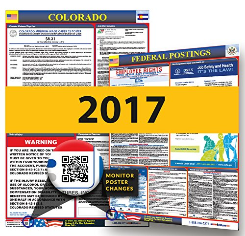 Osha Workplace Poster (2017 Colorado State & Federal Labor Law Posters for Workplace)