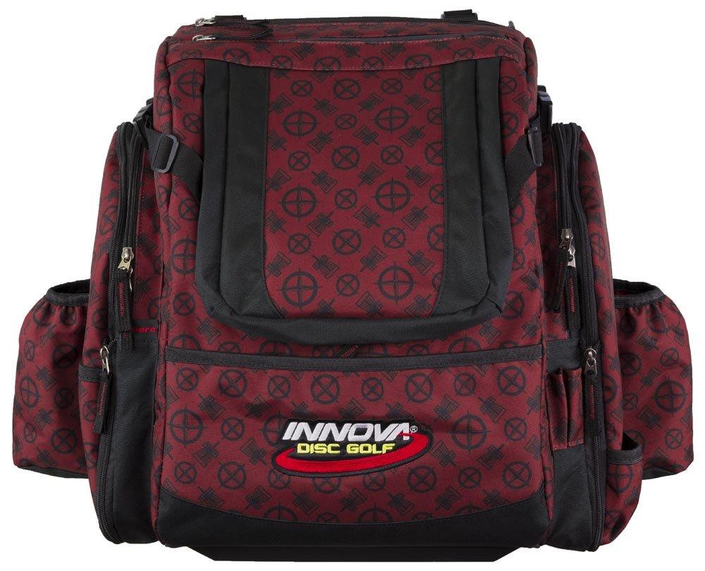 Innova Golf Disc Super Hero Backpack Bag, Deep Red Pattern by Innova Disc Golf