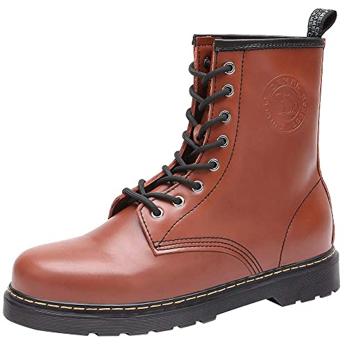 10f377ab605 CAMEL Mens Casual Leather Boots Ankle Fashion High Tops Hard Toe of Mens  Work Boots