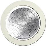 Bialetti Set Ricambi 3 Guarnizioni Con 1 Filtro Per Moka, 4 Tazze, Alluminio, Bianco
