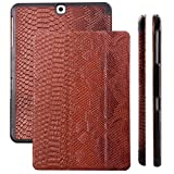 Samsung Galaxy Tab S2 8.0 Case | Cobra Snake brown | iCues Ancho Cover with Stand | other Leather - and colour variations available | Protective Flip Wallet with gift box