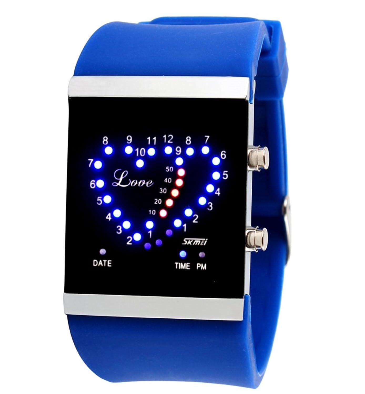 ハート型ideasledwatch / Men and Women Couple Watches /防水watch-f B06XCSPMMP