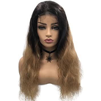 amazon com blond ombre long curly 22 lace front humen hair 2