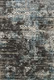 Loloi Rugs KGSTKT02CCBB3A57 Kingston Collection Charcoal/Blue Transitional Area Rug, 3'10