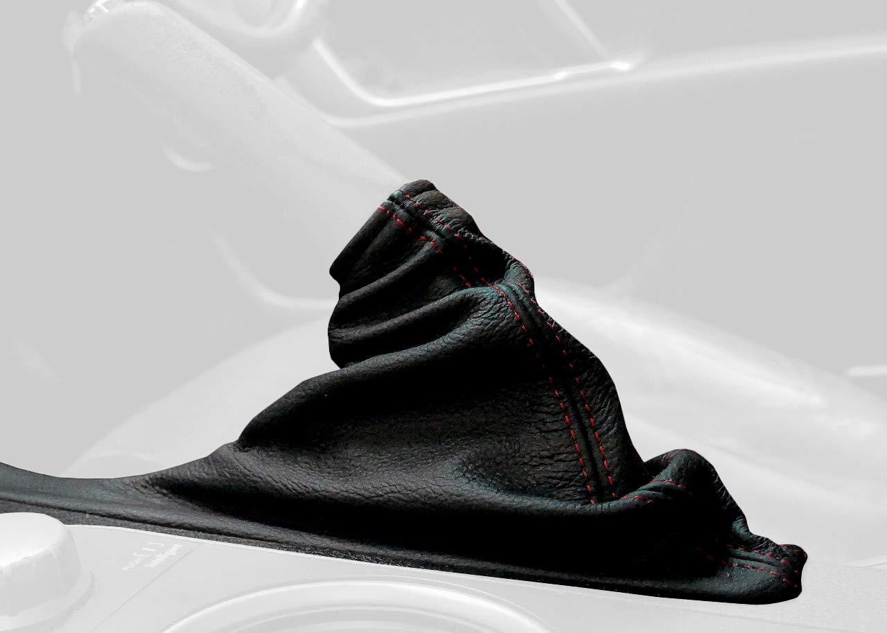 RedlineGoods ebrake Boot Compatible with Subaru Legacy 2005-09. Black Leather-Black Thread