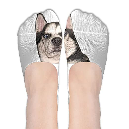 Husky Expression Funny Dog Fashion Lady Women Non-Slip Casual Low Cut No  Show Invisible Flat Boat Socks at Amazon Women s Clothing store  79b323821