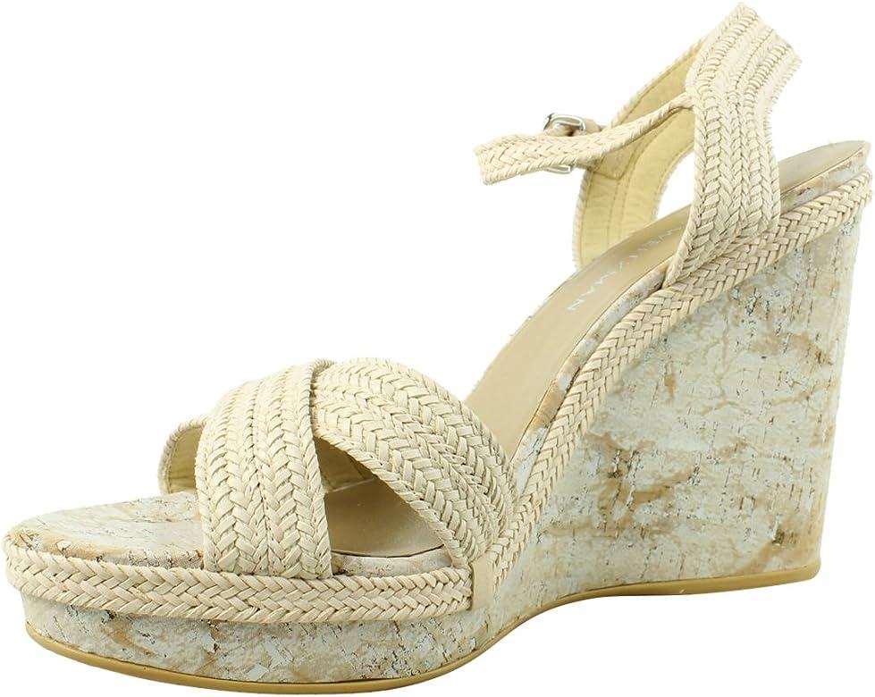 ebf2dae9615 Amazon.com: Stuart Weitzman Women's Minx Ivory Laniard 9.5 W US: Shoes