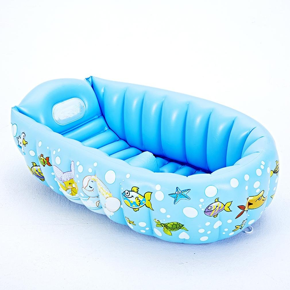 Heruai Baby Baths Kids Swimming Pool Inflatable Small Bath Thickening Portable Insulation Can Lie Down Folding Pool Baby Bath water toy floating row