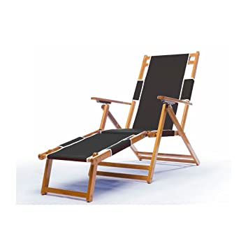 High Quality Heavy Duty Commercial Grade Oak Wood Beach Chair / Chaise Lounger