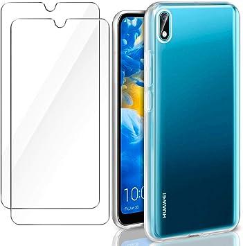 XTCASE Funda para Huawei Y5 2019 Silicona Transparente + [2-Pack ...