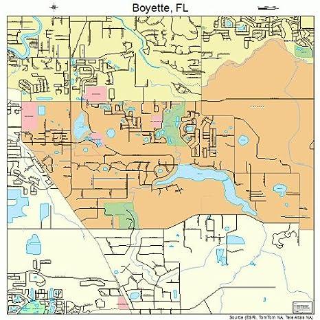Florida Road Map Atlas.Amazon Com Large Street Road Map Of Boyette Florida Fl Printed