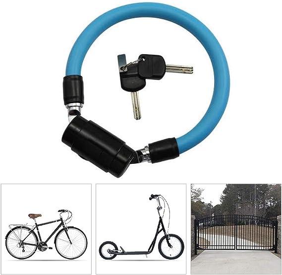KuaiKeSport Candado Bici Alta Seguridad,Resistente al Desgaste Protección contra la Corrosión Cadena 15mm de Diámetro Anti-Corte Bicicleta para Candado Moto Eléctricos de Bicicleta,Green: Amazon.es: Deportes y aire libre