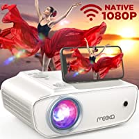 MOOKA Native 1080P WiFi Projector, 8500L HD Movie Projector with Carrying Case, Home Theater Video Projector Support…