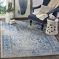 Safavieh Adirondack Collection ADR109A Grey and Blue Oriental Vintage Distressed Area Rug (3' x 5')
