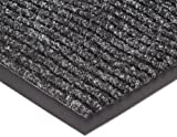 NoTrax 109S0035CH Brush Step Entrance Mat, for Lobbies and Indoor Entranceways, 3' Width x 5' Length x 3/8'' Thickness, Charcoal