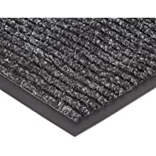 """NoTrax 109S0035CH Brush Step Entrance Mat, for Lobbies and Indoor Entranceways, 3' Width x 5' Length x 3/8"""" Thickness, Charcoal"""