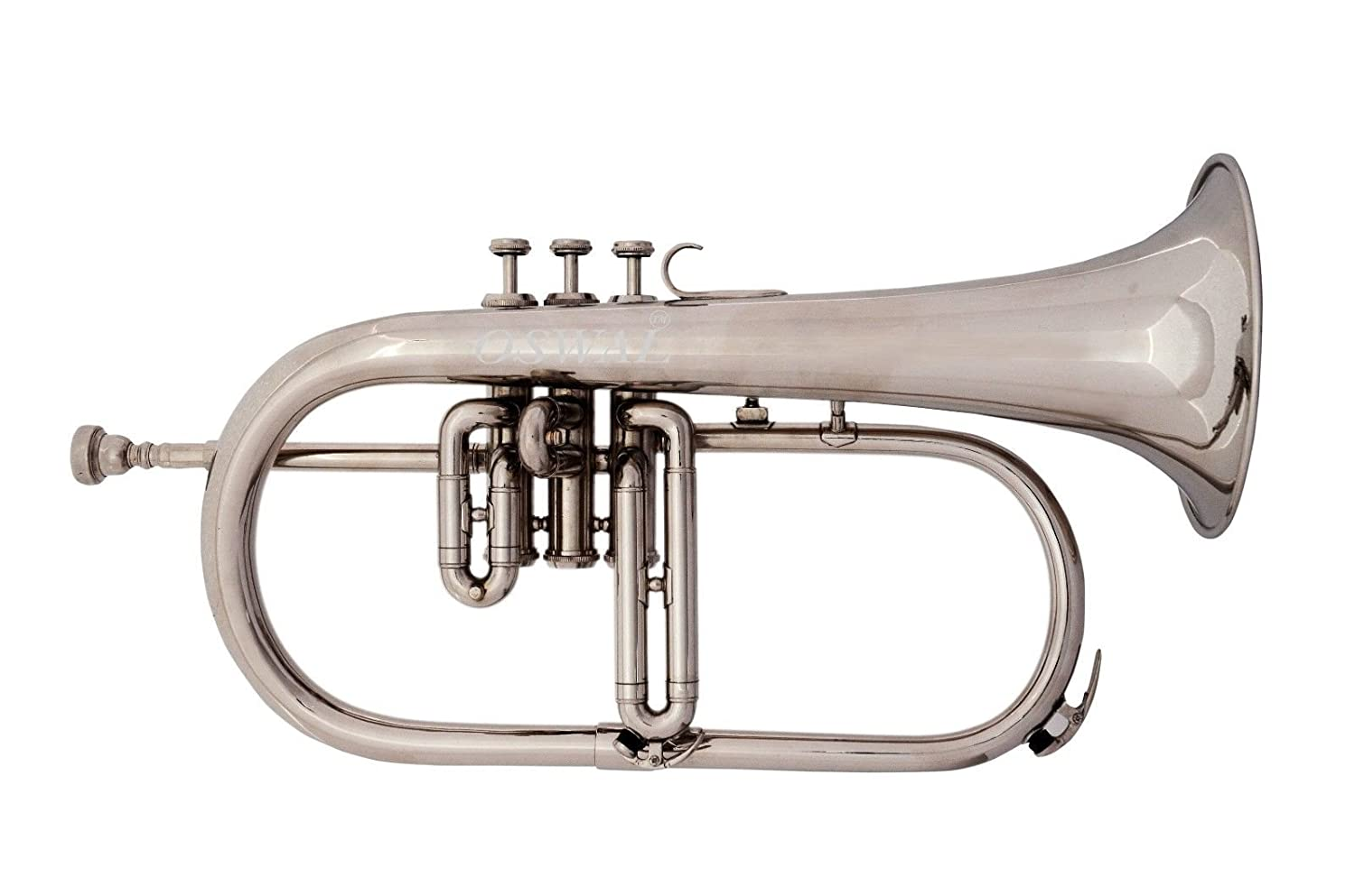 BRAND NEW SILVER Bb FLUGEL HORN+FREE CASE+MOUTHIPICE+FAST DELIVERY SAI MUSICAL