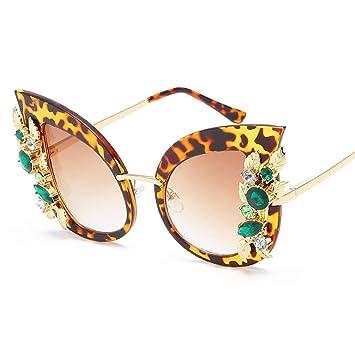 JunbosiGafas de Sol Cat Eye Gafas de Sol con Montura Grande ...