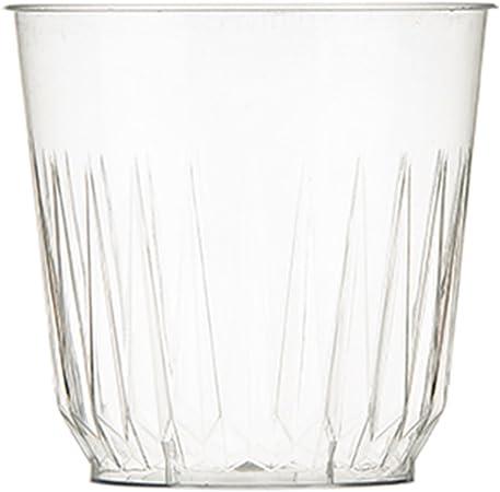 8oz/227ml vasos de plástico transparente corte cristal efecto ...