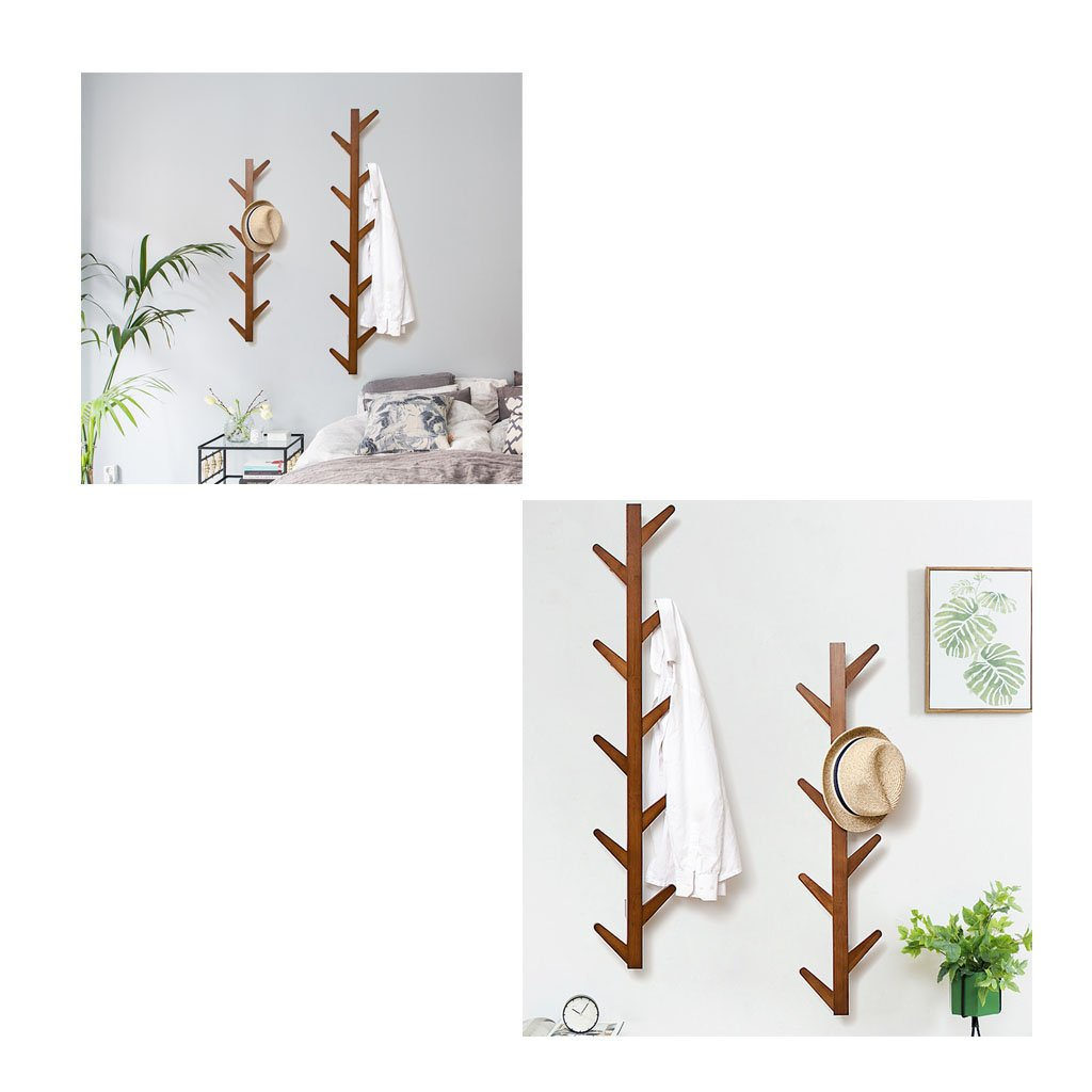 Amazon.com: XJRHB - Perchero de madera con gancho para ...