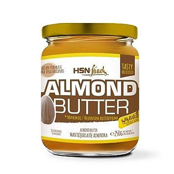 Mantequilla de Almendras de HSN | Textura Cremosa y Suave - Almond Butter Smooth - 100% Natural | Apto Vegetariano - Sin grasa de palma - Sin grasa ...