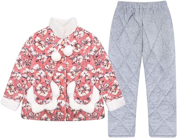 Pijamas Chicas Engrosamiento de Invierno Acolchado vellón de Coral ...