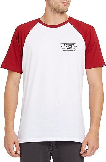Camiseta Con Mangas Raglan Vans Full Patch Blanco-Rojo Dahlia (Xl, Blanco): Amazon.es: Ropa y accesorios