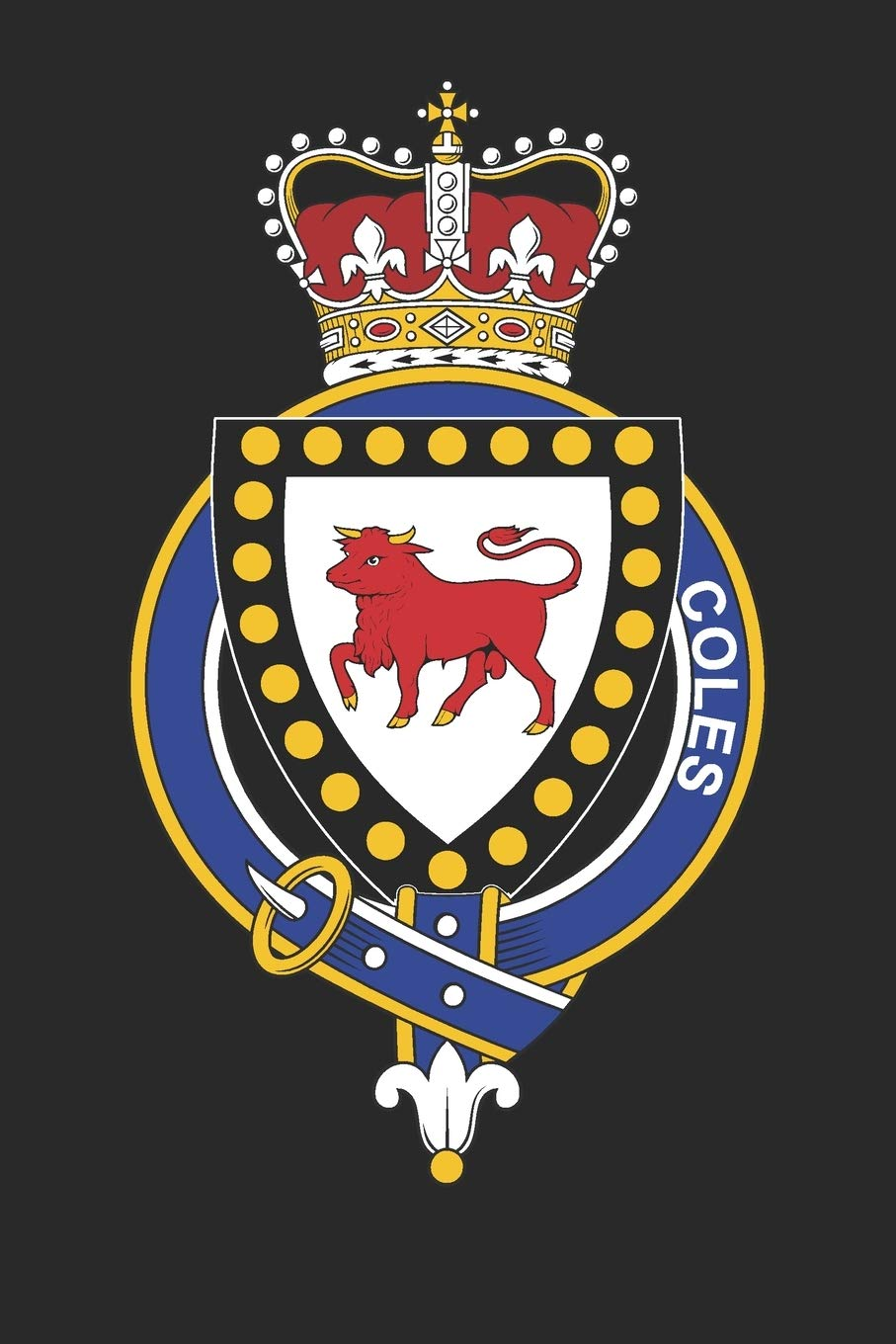 Amazon Com Coles Coles Coat Of Arms And Family Crest Notebook Journal 6 X 9 100 Pages 9781671972865 Family Coles Books