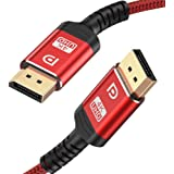 DisplayPort Cable 10ft,Capshi 1.2 DP Cable Nylon Braided -(4K@60Hz, 2K@144Hz) Gold-Plated DP to DP Cable Ultra High Speed Dis