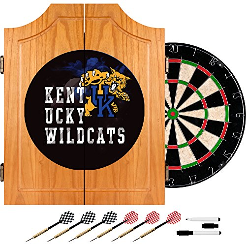Trademark Gameroom University of Kentucky Wildcats Wood Dart Cabinet Set - Smoke by Trademark Gameroom