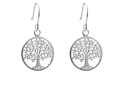 [Sponsored]ANTOMUS® 18K YELLOW GOLD VERMEIL SOLID 925 STERLING SILVER PAIR OF TREE OF LIFE EARRINGS nA3Lbg