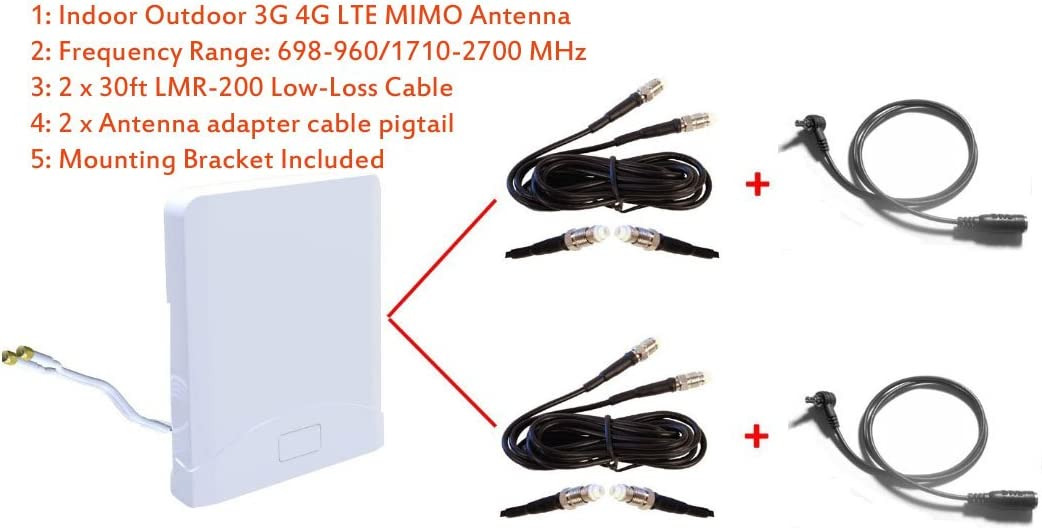 3G 4G LTE Indoor Outdoor Wide Band MIMO Antenna for Sprint Boost Mobile ZTE Warp Connect Mobile Hotspot ZTE MF920VS MF920 MF920A 61Oc08HomrLSL1059_