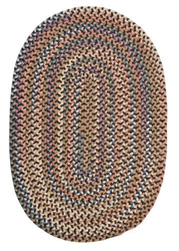 Cedar Cove Polypropylene Braided Rug, 4-Feet by 6-Feet, Dark Brown