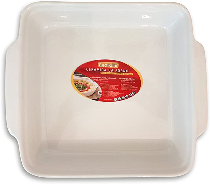 Modern White Baking Serving Dish Casserole Dish with Lid by Bowering. Oven to Table Microwave and Dishwasher Safe