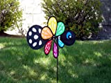 In the Breeze Baby Bug Butterfly Wind Spinner - Silk Screened Details - Fun Spinner for your Flower Pot's, Garden and Yard