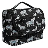 Toiletry Bag Hanging Waterproof Toiletry Organizer Case with Hook and handle Travel Makeup Cosmetic Bag for Women, Compact Bathroom Storage, Home, Gym, Airplane, Hotel(Elephant)