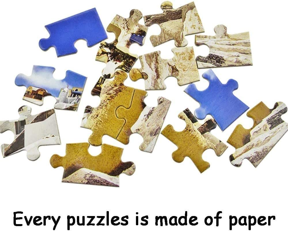 Jigsaw Puzzles 1000 Pieces for Adults Kids Aegean Sea Puzzle Educational Intellectual Decompressing Fun Family Game
