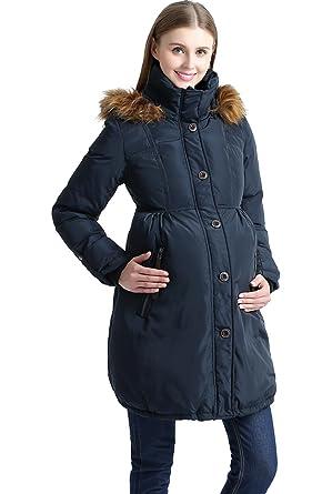 b347e9be5f428 Kimi + Kai Maternity Lily Down Coat at Amazon Women's Clothing store: