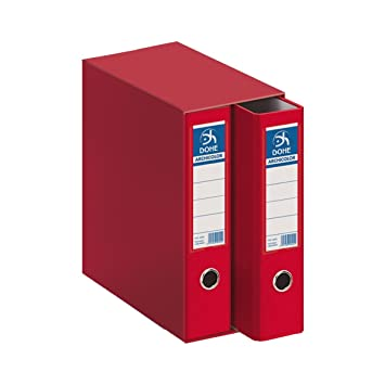 Dohe Archicolor - Módulo 2 archivadores, folio lomo ancho, color rojo