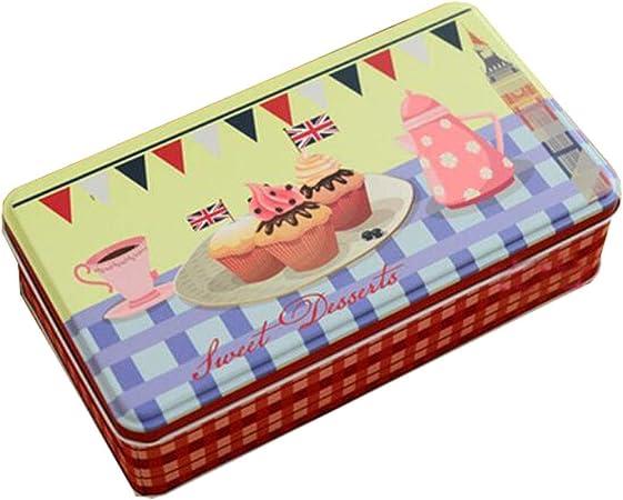 Latas para galletas Caja de dulces Cajas de almacenamiento de postales de latas de caramelo/chocolate-A4: Amazon.es: Hogar