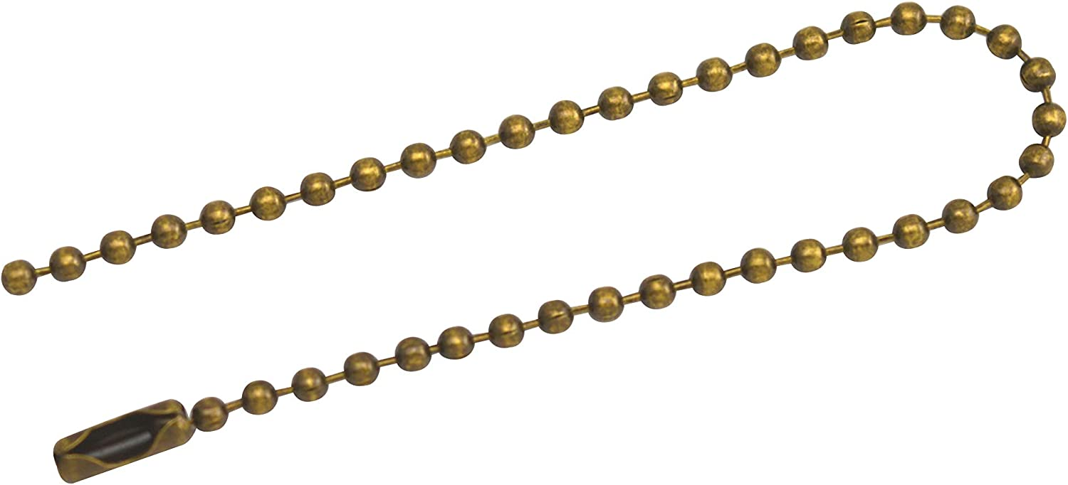 Amanaote Bronze 1.5 mm Diameter Ball Chain 120 mm Length Metal Bead Chain for Pendant Pack of 30