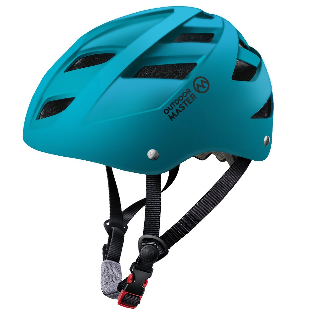 OutdoorMaster Multisport Helmet for Child & Youth - Adjustable Size & Washable Lining - 21 Vents Ventilation System - M - Ocean Green by OutdoorMaster