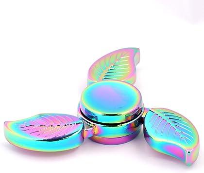 Spinner de mano Fidget Hand Spinner QcoQce K3 Arco iris colorido ...