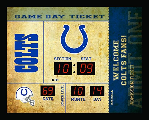 Team Sports America Indianapolis Colts Bluetooth Scoreboard Wall Clock
