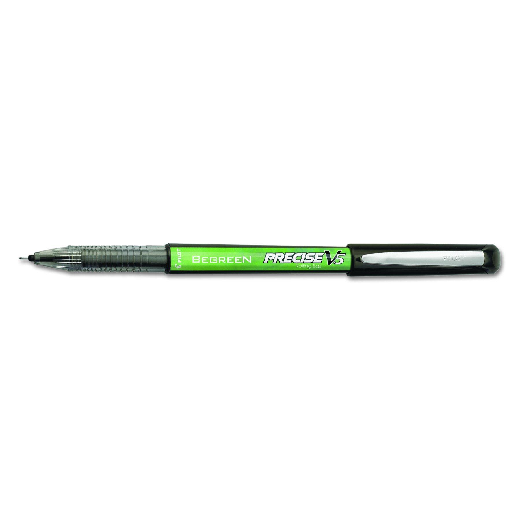 12 x Pilot Precise V5 BeGreen Rolling Ball Pens, Capped