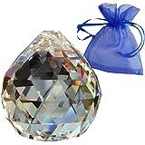 Crystal Ball Ø40mm con il sacchetto del regalo | Cristallo al piombo | Esoterismo | Feng Shui | I colori dell'arcobaleno | decorazioni delle finestre