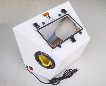 welljoin portátil máquina de chorro de arena joyas pequeñas herramientas de chorro de arena máquina 220 V: Amazon.es: Hogar